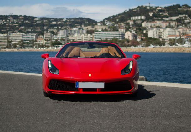 Ferrari 488 Spider , Rent sport cars , hire Ferrari , Location , louer , AAA Luxury , louer Ferrari , best price , service provided in Europe , Milan , Nice , Cannes , Paris , Monaco , Monte-Carlo